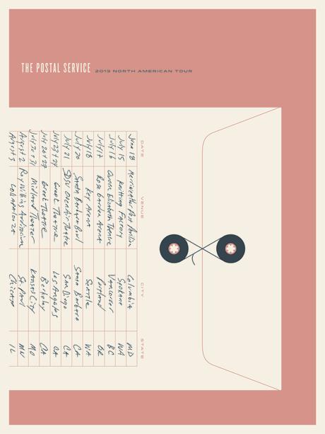 JasonMunn_ThePostalService_Tour3_Poster